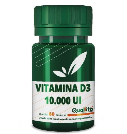 Vitamina D3 10.000 UI (60 Cápsulas)