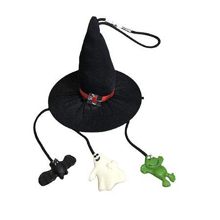 Chapéu de bruxa miniatura para pendurar