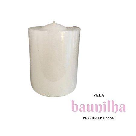 Vela Perfumada 100g Branca - Baunilia