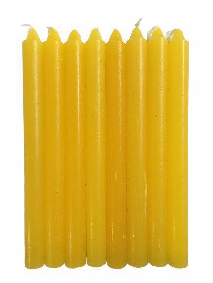 Vela Amarela Palito 18cm - Pacote com 1kg