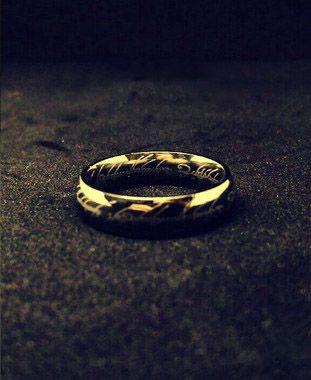 Anel do Senhor dos Anéis Cor Prata - The One Ring