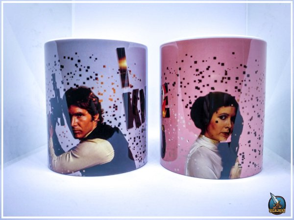 Canecas Star Wars Namorados I love You I Know