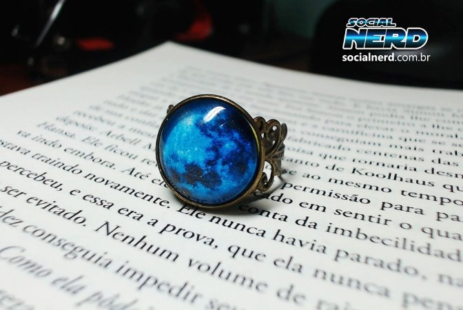 Anel Lua Azul Tamanho Regulável