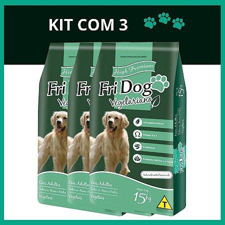 FriDog | Ração Vegetariana 15KG - Kit com 3