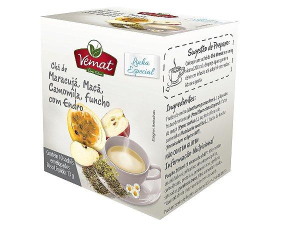 Chá de maracujá maçã camomila funcho e endro