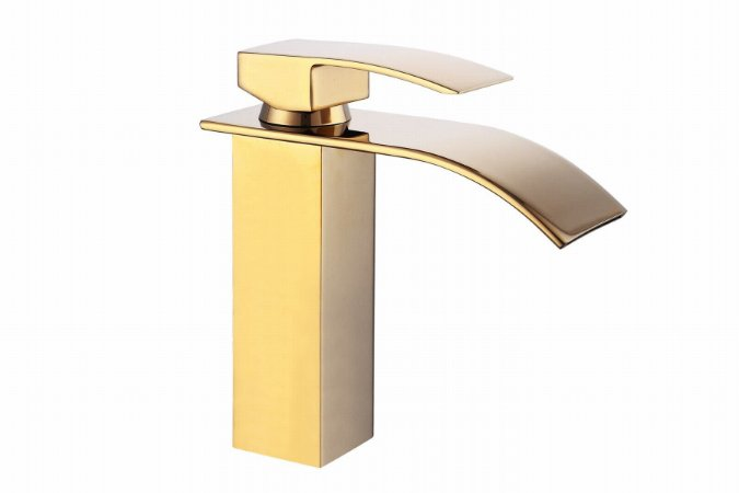 Torneira Gold Lavabo Banheiro Monocomando Dourada - Burano