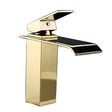 Torneira Gold Lavabo Banheiro Monocomando Dourada Viena