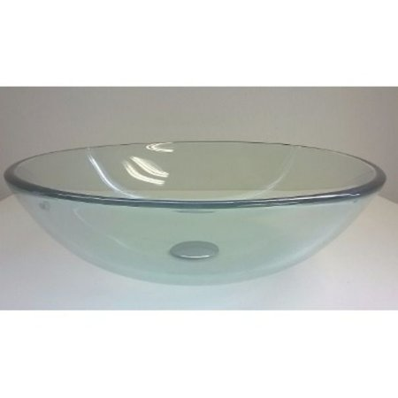 Cuba redonda de vidro 42cm + Valvula inteligente click