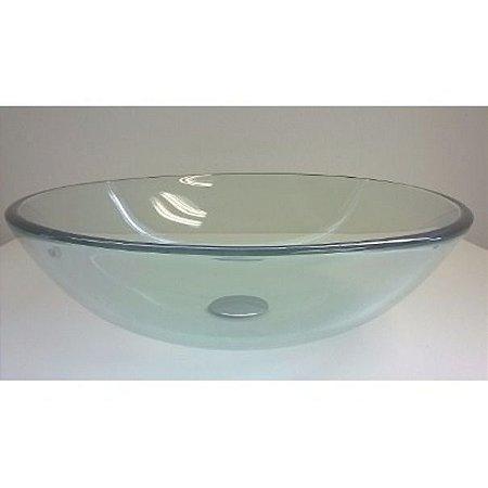 Cuba redonda de vidro 30 cm + Válvula inteligente click