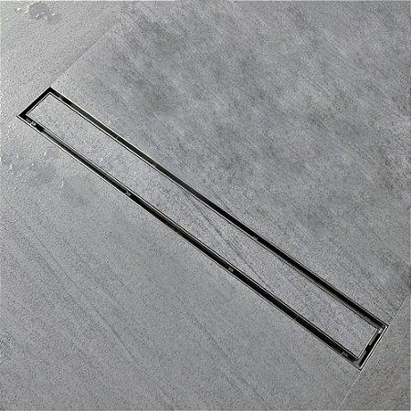 Ralo Linear Inox tampa oculta invisível 100cm