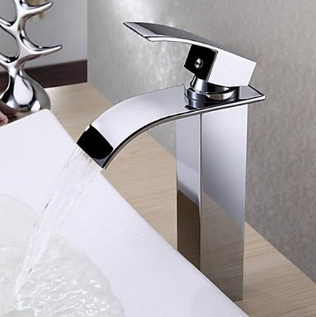 Torneira Banheiro Lavabo Monocomando Bica Alta Roma