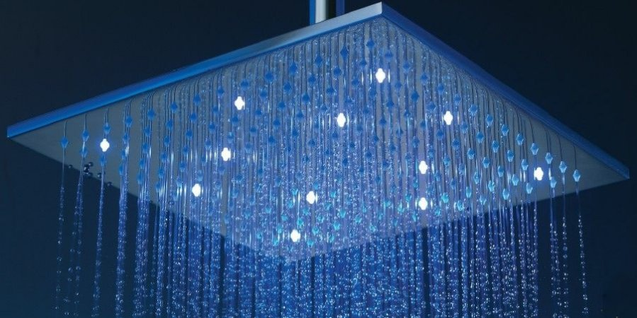 Ducha Led Quadrada Square 8mm - 30cm x 30cm