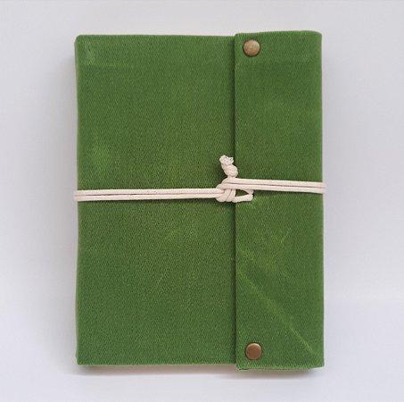 Diário em Lona Verde Pistache