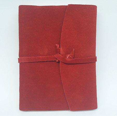 Diário em Camurça Vermelho