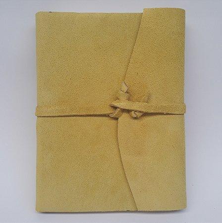 Diário em Camurça Amarelo