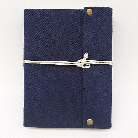 Diário em Lona Azul Marinho