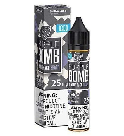 Líquido Purple Bomb Iced - SaltNic / Salt Nicotine - Vgod