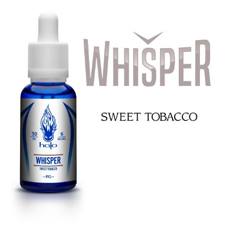 Líquido Whisper (Sweet Tobacco) - White Series - Halo Cigs