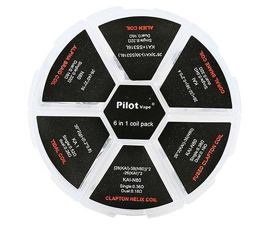 Kit 6 em 1 de Coil Prontas - Resistências - C/ 24 Bobinas - PilotVape