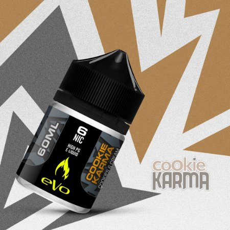 Líquido Cookie Karma - Cookies & Cream - eVo