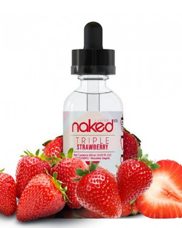 Líquido Triple Strawberry (Fussion) - Naked 100