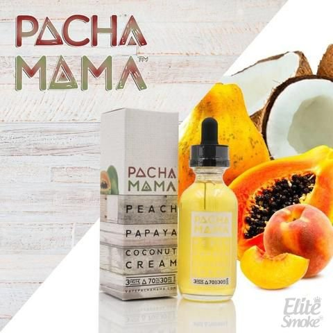 Líquido Peach Papaya Coconut Cream - Pachamama