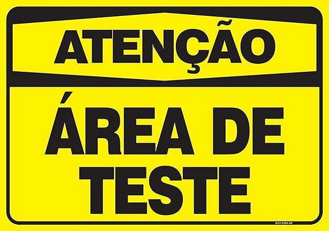 ATENÇÃO - ÁREA DE TESTE
