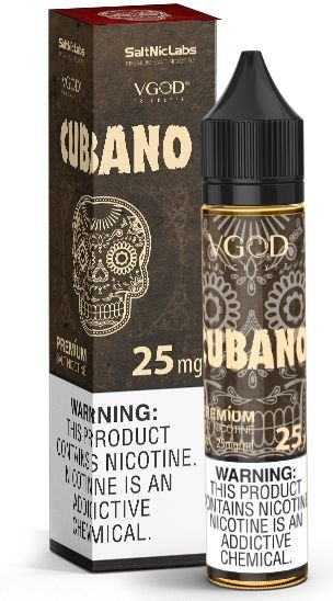 Líquido Cubano - SaltNic / Salt Nicotine - Vgod