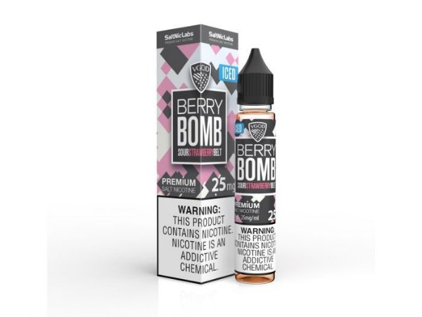 Líquido Berry Bomb ICED- SaltNic / Salt Nicotine -  VGOD SaltNic