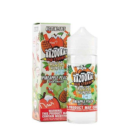 Líquido Pineapple Peach ICE - Sour Straws - Tropical Thunder - Bazooka!