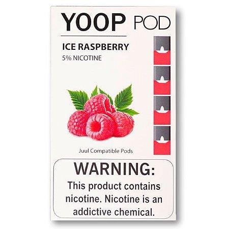 PODs c/ Líquido p/ Juul - ICE RASPBERRY - YOOP