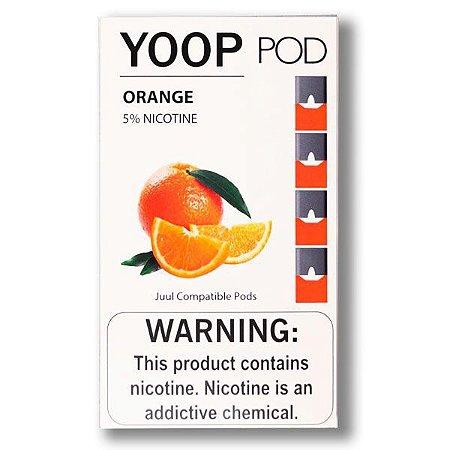 Pod c/ Líquido Orange p/ Pod System Yoop & Juul - Yoop