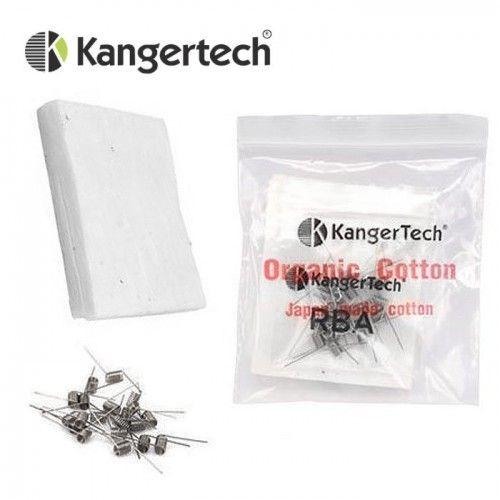 Kit c/ 20 Coils Prontas 0.5ohms + Algodão OCC p/ RBA - KangerTech