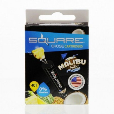 Refil Square E-Hose - Essência - Malibu Silk- ZERO NICOTINA - Cx c/ 4