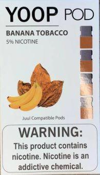 Pod c/ Líquido Banana Tobacco p/ Pod System Yoop & Juul - Yoop