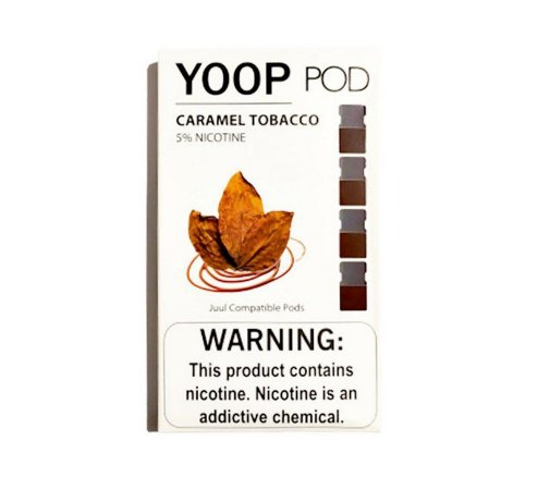Pod c/ Líquido Caramel Tobacco p/ Pod System Yoop & Juul - Yoop