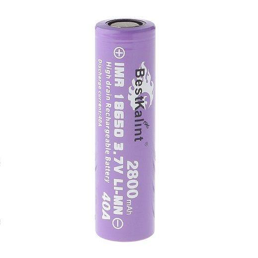 Bateria IMR 18650 Li-Mn 3.7V 2800mAh High Drain 40A Flat Top - BestKalint