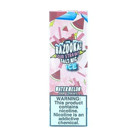 Líquido Watermelon Ice (Sour Straws) - SaltNic / Salt Nicotine - Bazooka!