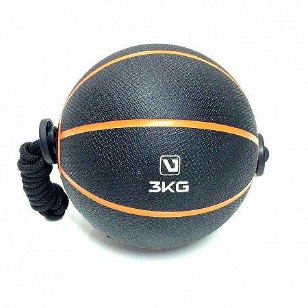 Medicine Ball 3kg com Corda Live UP