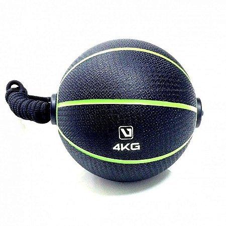 Medicine Ball 4kg com Corda Live UP