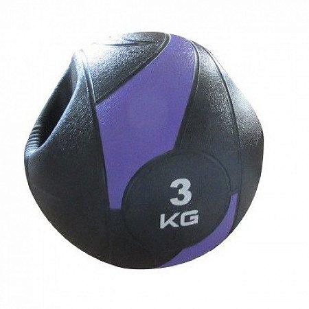 Medicine Ball  3kg com Pegada (Alça)