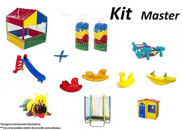 Kit Master com 12 Brinquedos Para Playground