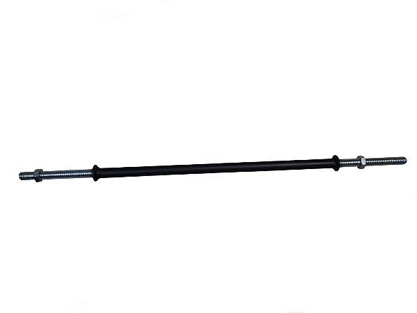 Barra 120cm maciça de rosca e pegada emborrachada