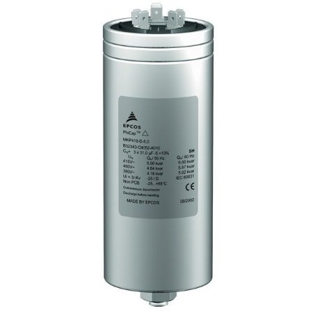 Capacitor Trifásico 5,0 KVAR X 380V X 60HZ MKP380-D4.2