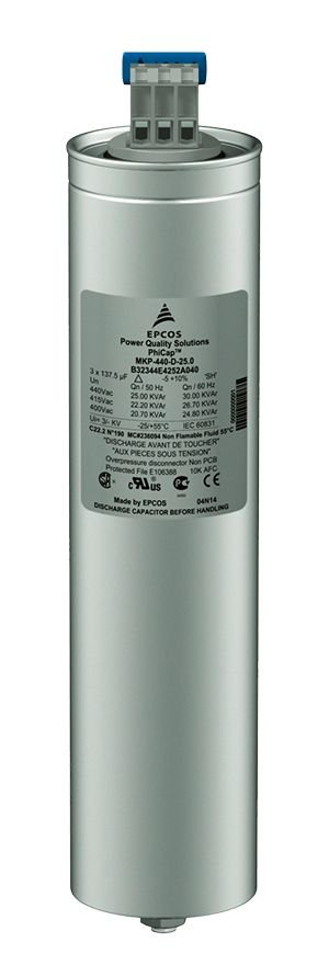 Capacitor Trifásico 7,5 KVAR X 480V X 60HZ MKP480-D6.3