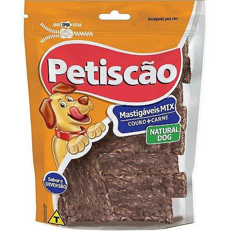 Tablete de Couro e Carne Linha Natural Dog 100g