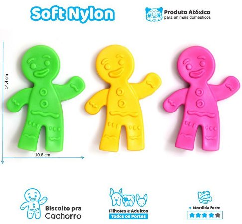 Biscoito - brinquedo de nylon para cães com mordida forte=)