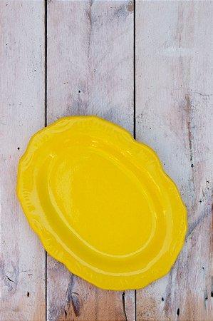 Pratinho Porta Incenso Cerâmica - Amarelo