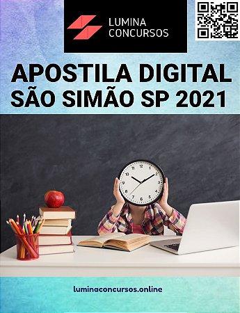 Apostila PREFEITURA DE SÃO SIMÃO SP 2021 Professor de Educação Infantil I
