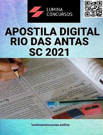 Apostila PREFEITURA DE RIO DAS ANTAS SC 2021 Auxiliar de Enfermagem